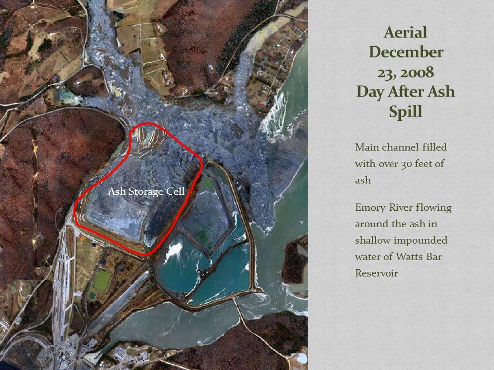 Aerial December 23, 2008 Day After Ash Spill