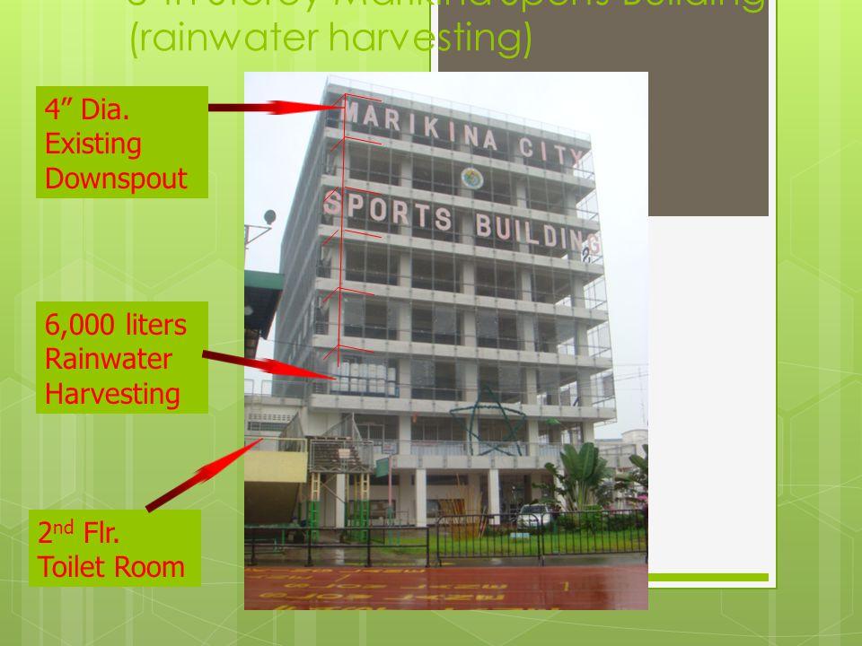 8'th Storey Marikina Sports Building (rainwater harvesting)