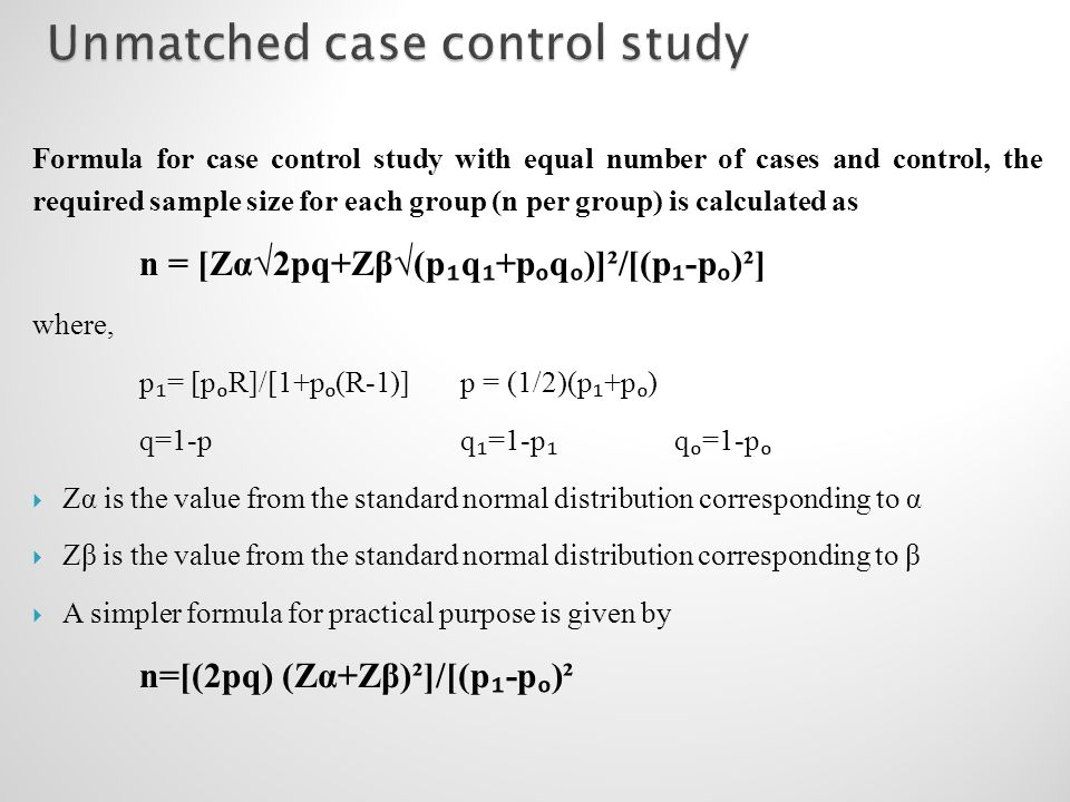 9.5 - Example 3 - Odds Ratios from a case/control study ...