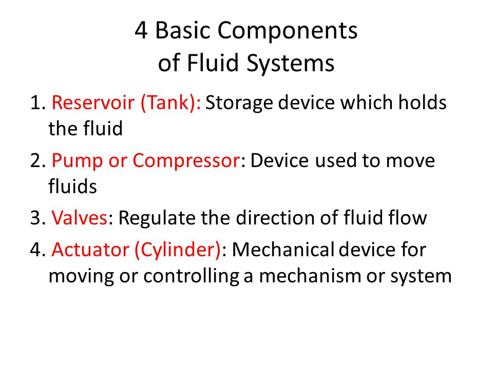 4 Basic Components of Fluid Systems