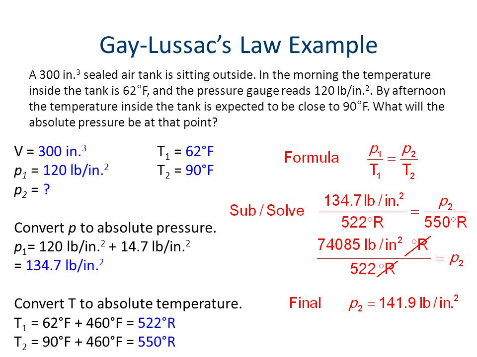 Gay-Lussac's Law Example