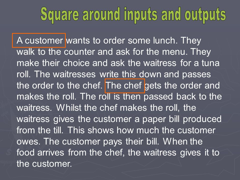 Square around inputs and outputs