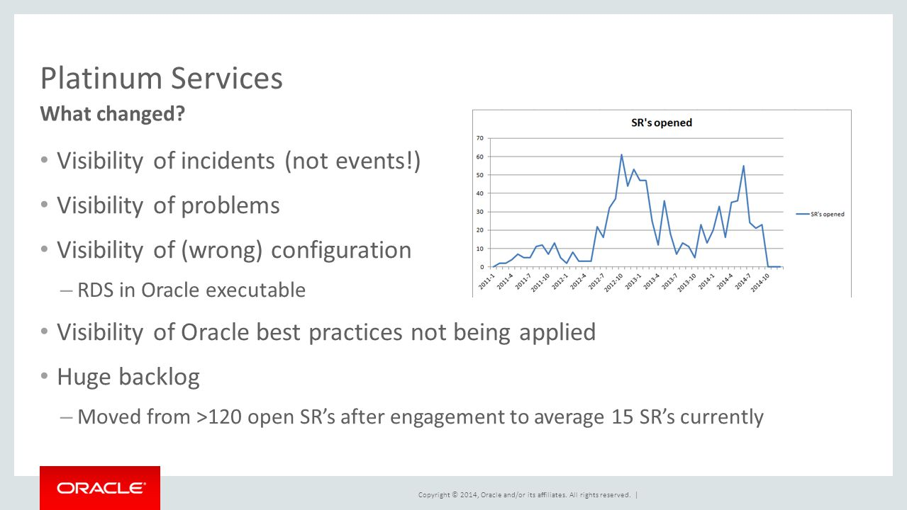 Platinum Services Visibility of incidents (not events!)