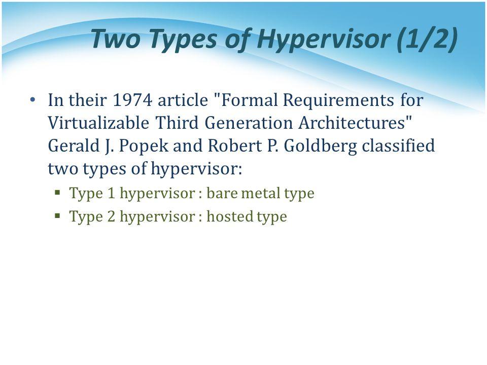 Two Types of Hypervisor (1/2)