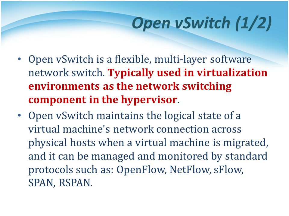 Open vSwitch (1/2)