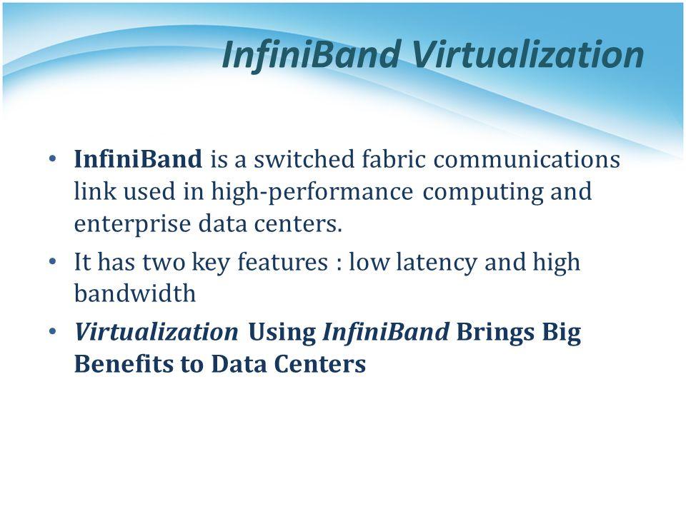InfiniBand Virtualization