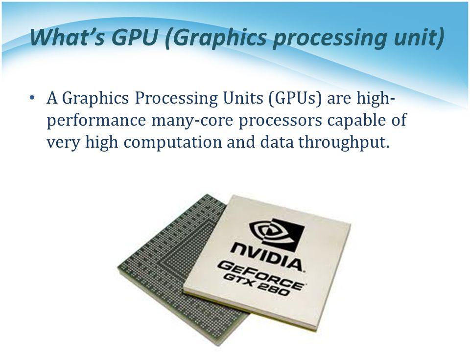 What's GPU (Graphics processing unit)