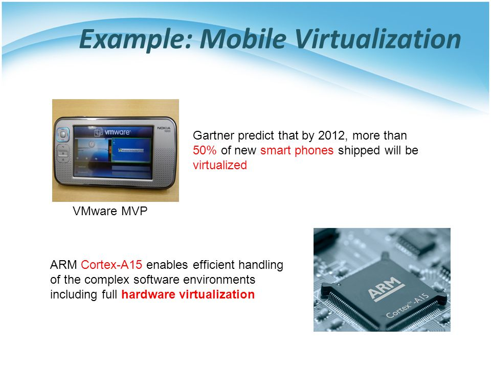 Example: Mobile Virtualization