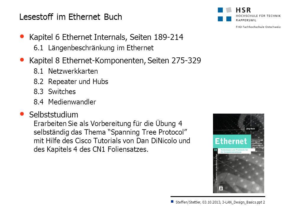 Lesestoff im Ethernet Buch