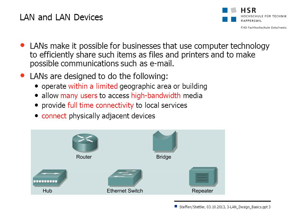 LAN and LAN Devices