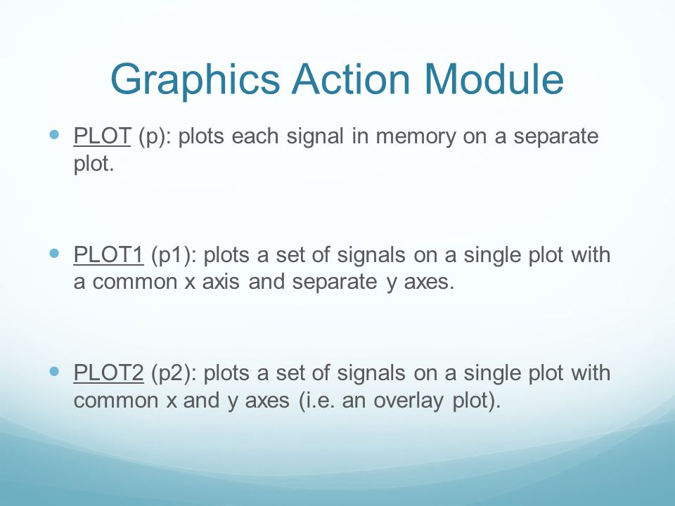 Graphics Action Module