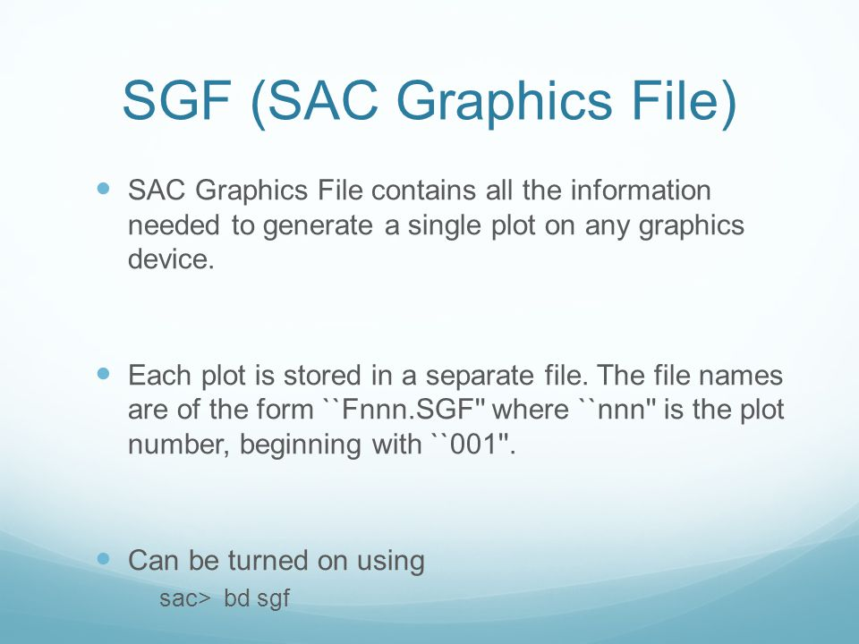 SGF (SAC Graphics File)