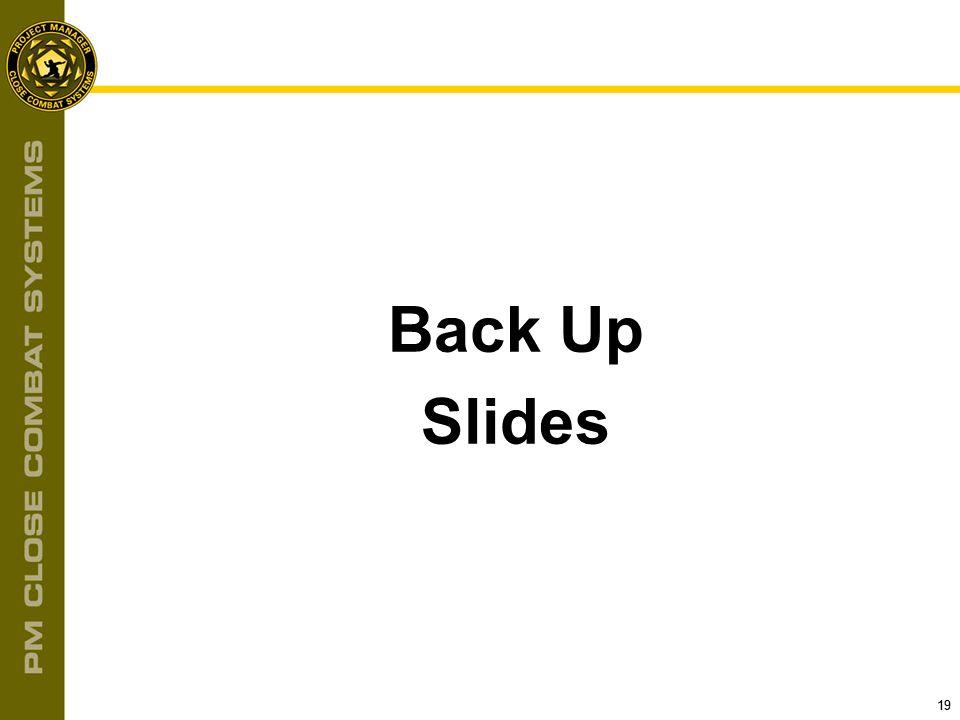 Back Up Slides 19