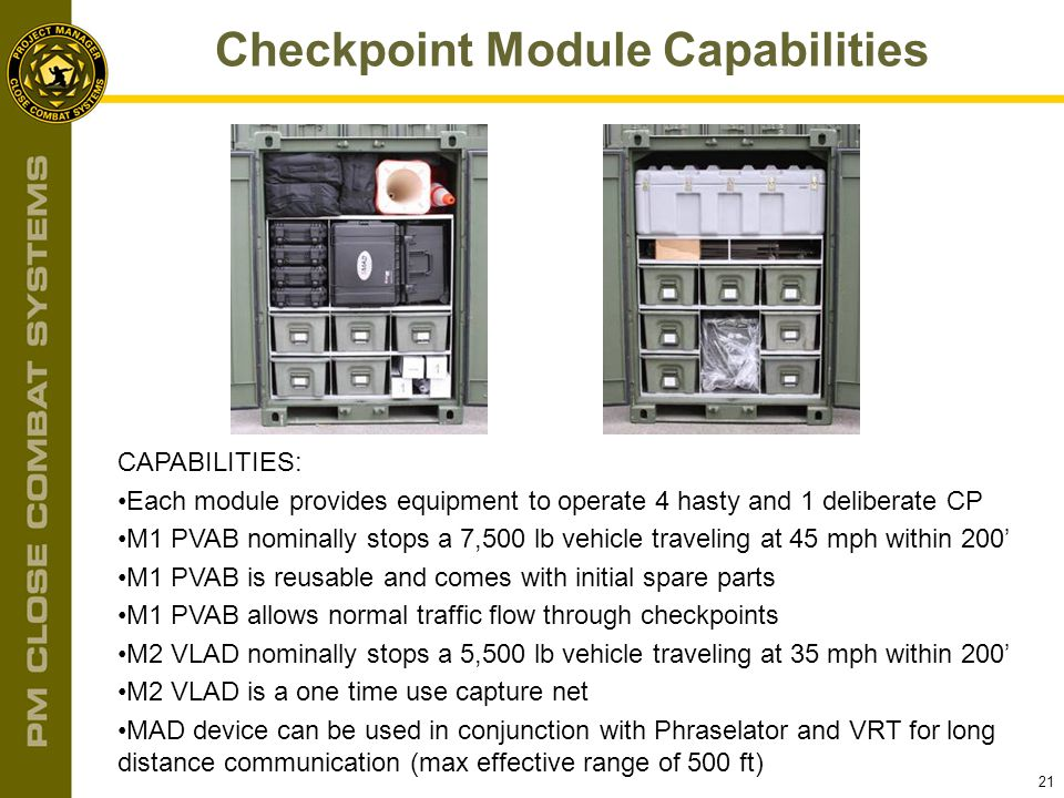 Checkpoint Module Capabilities