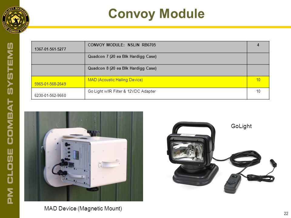 Convoy Module GoLight MAD Device (Magnetic Mount) 1367-01-561-5277