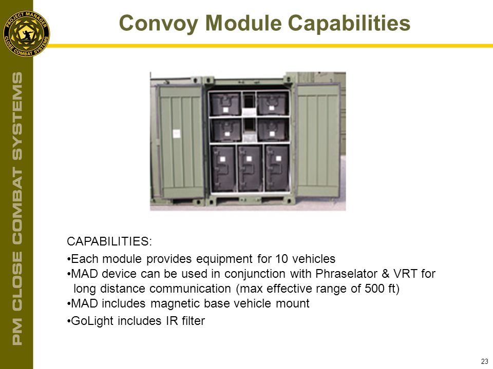 Convoy Module Capabilities