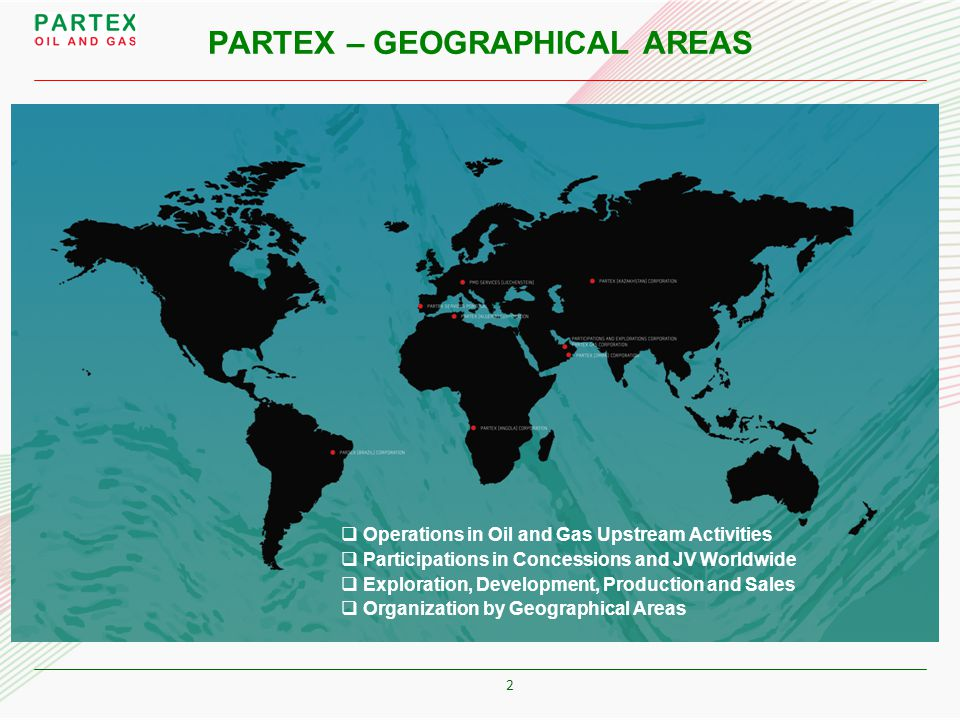 PARTEX – GEOGRAPHICAL AREAS