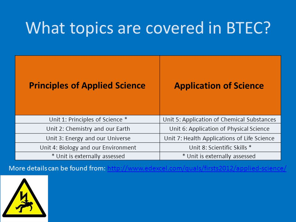 What topics are covered in BTEC