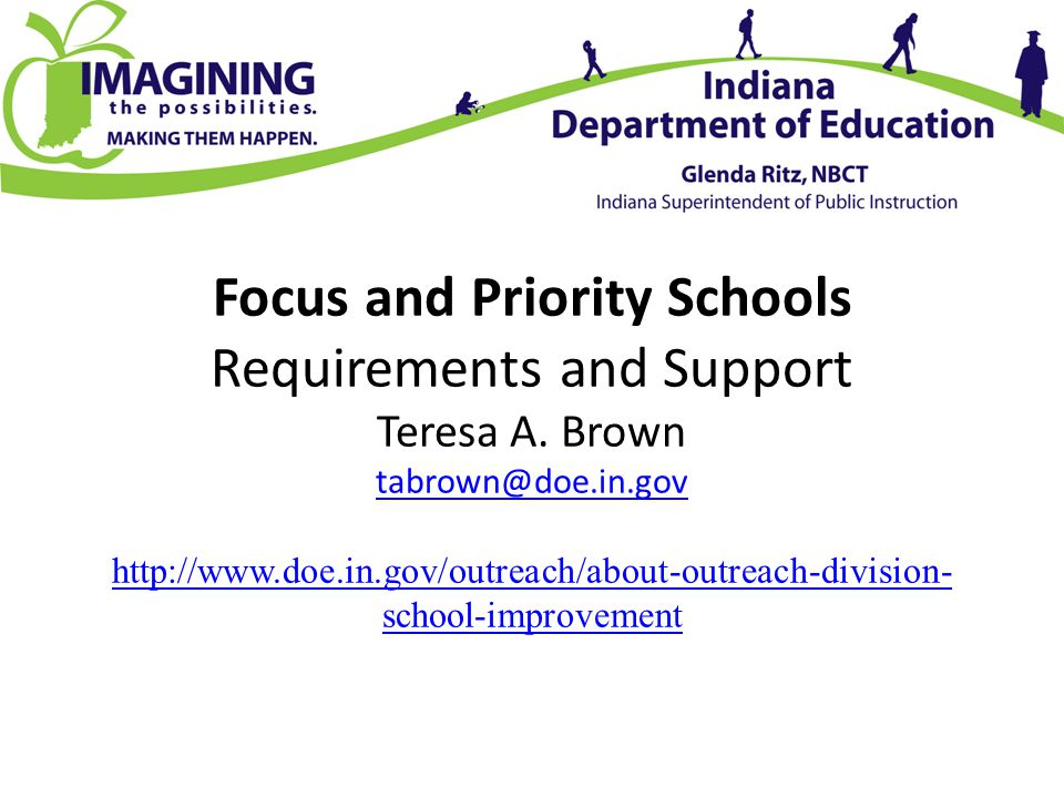 Focus and Priority Schools Requirements and Support Teresa A