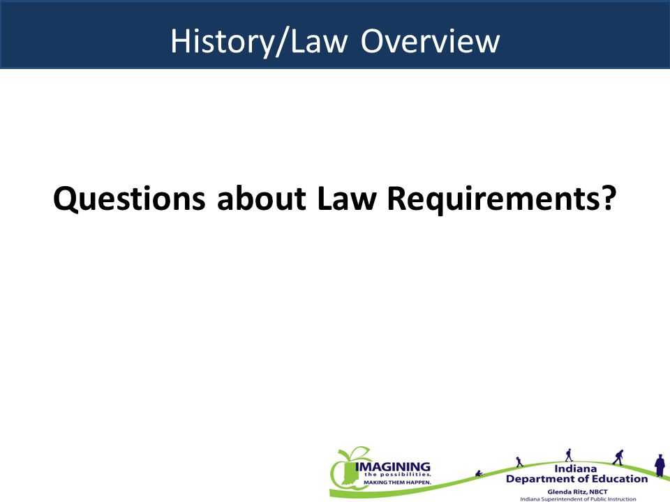Questions about Law Requirements