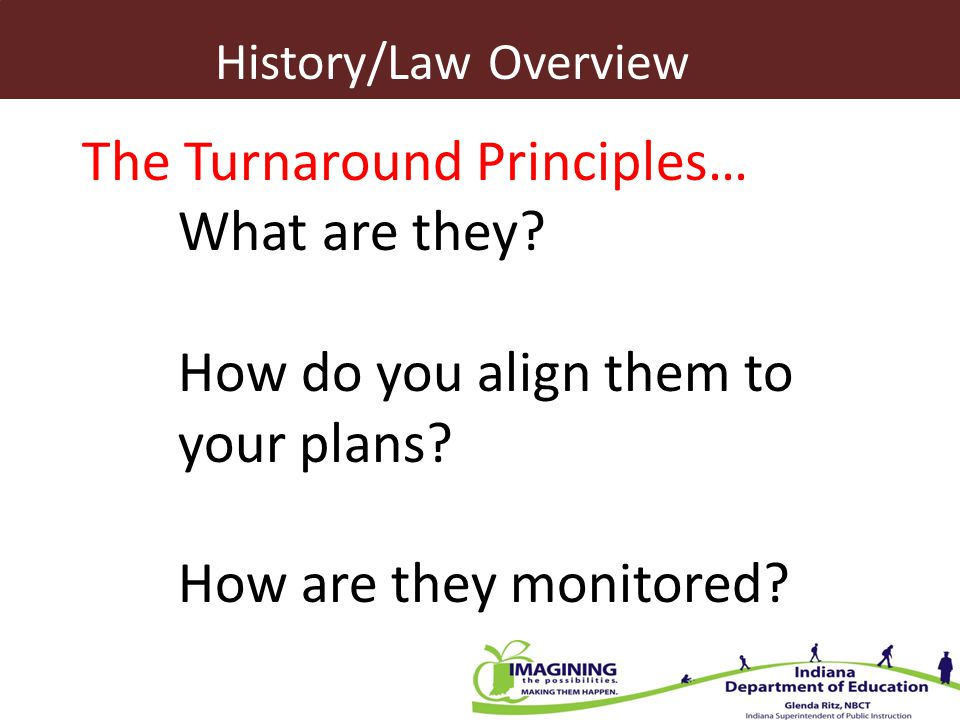 The Turnaround Principles… What are they