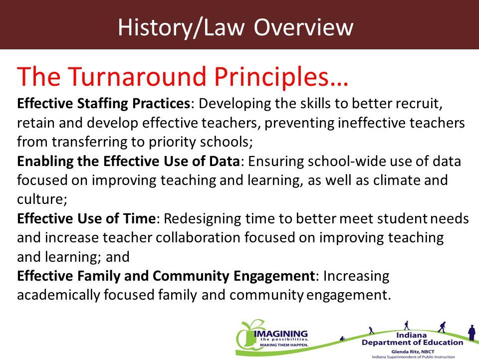 The Turnaround Principles…