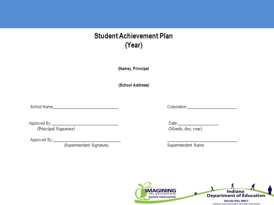Student Achievement Plan