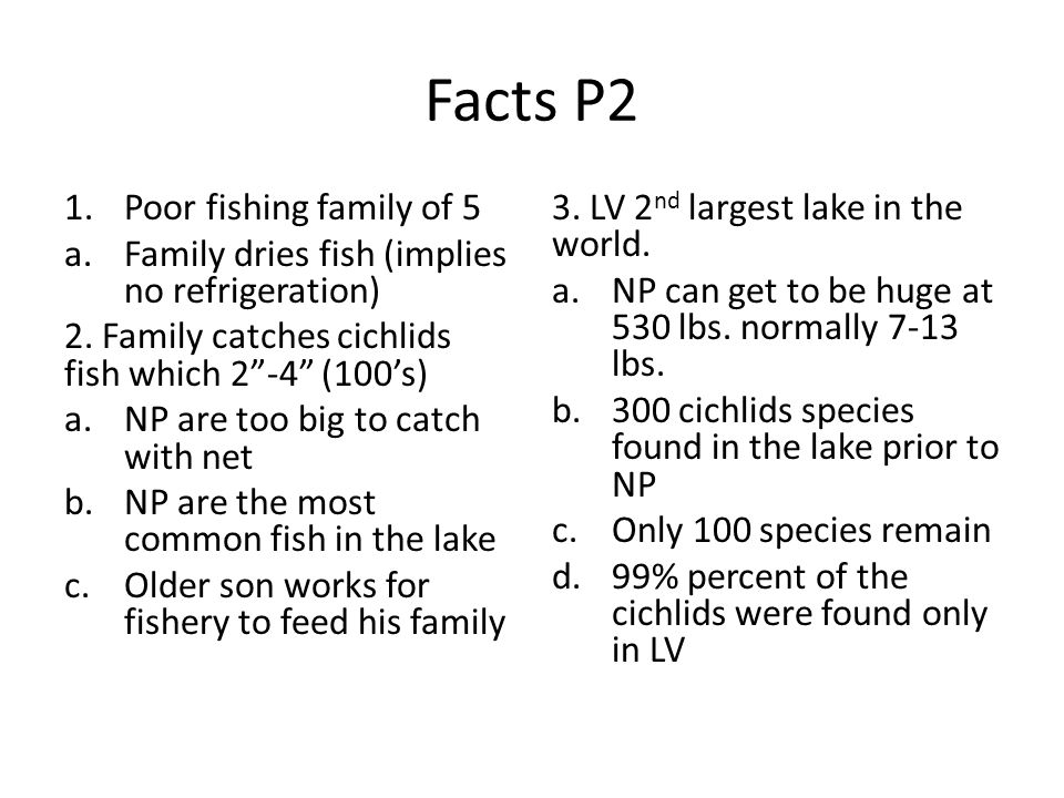 Facts P2 Poor fishing family of 5