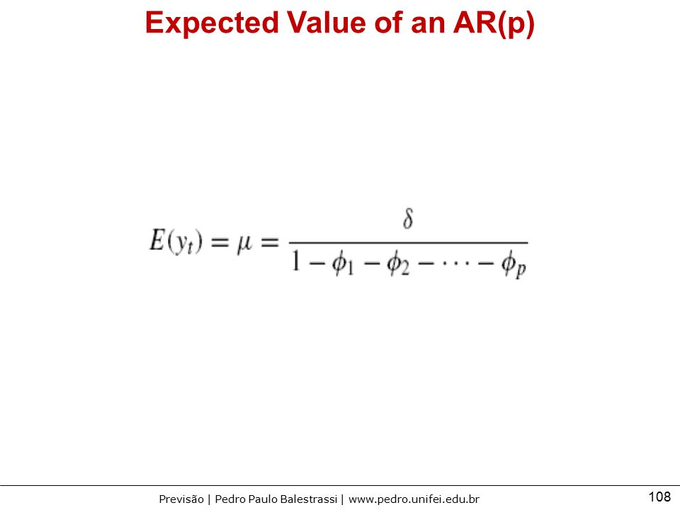Expected Value of an AR(p)