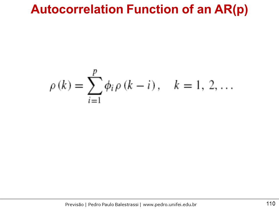 Autocorrelation Function of an AR(p)