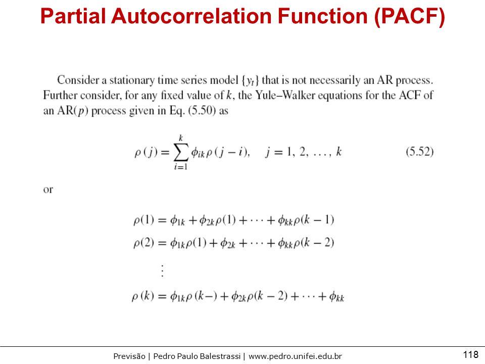 Partial Autocorrelation Function (PACF)