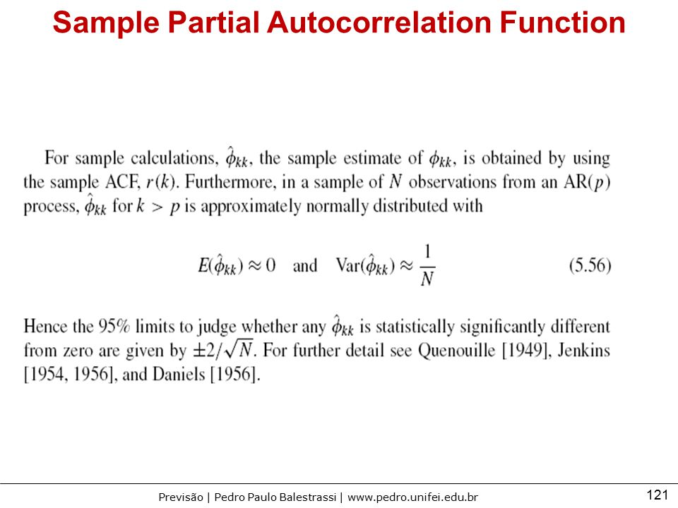 Sample Partial Autocorrelation Function