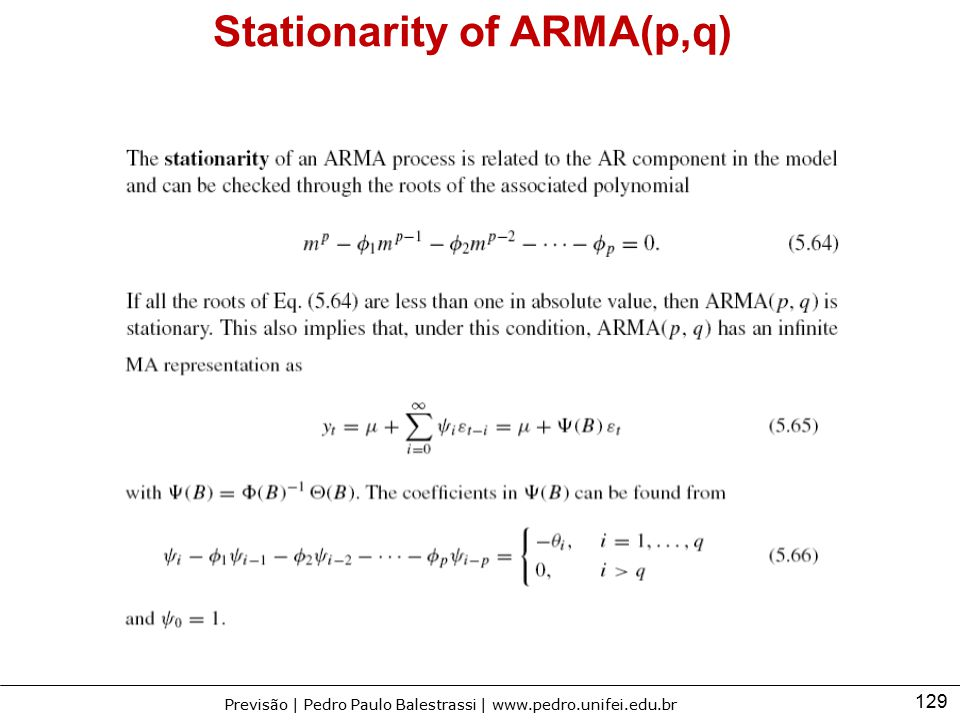 Stationarity of ARMA(p,q)