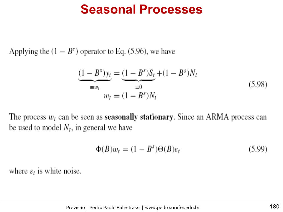 Seasonal Processes