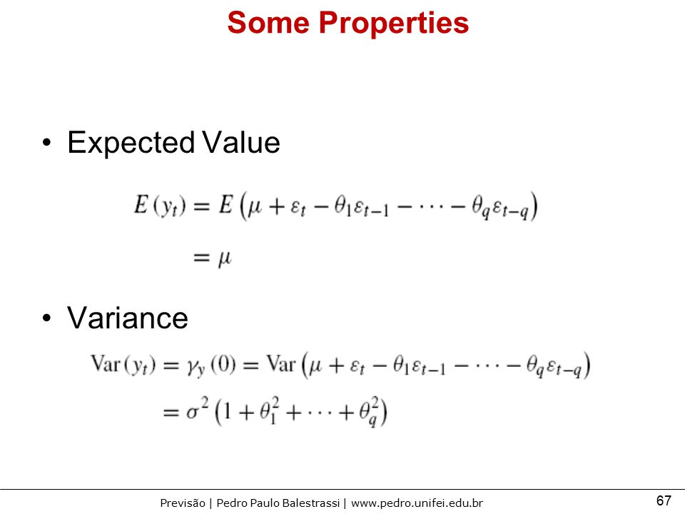 Some Properties Expected Value Variance