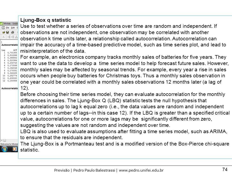 Ljung-Box q statistic