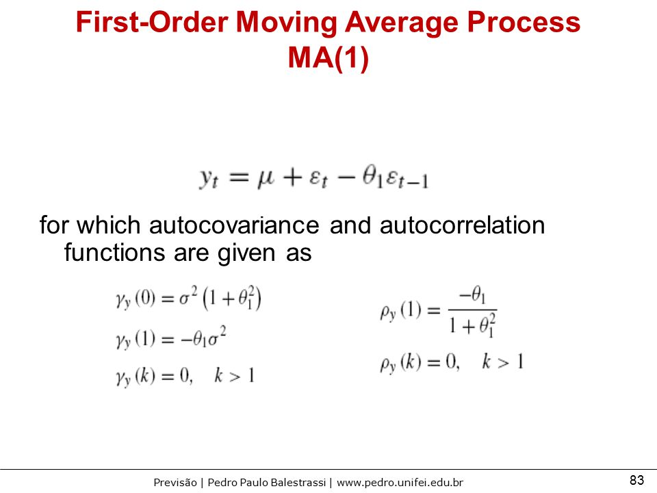 First-Order Moving Average Process MA(1)