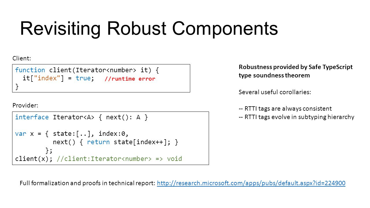 Revisiting Robust Components