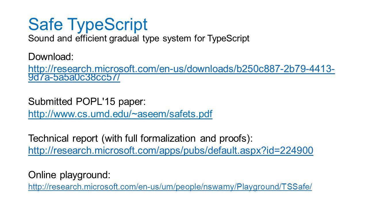 Safe TypeScript Download: