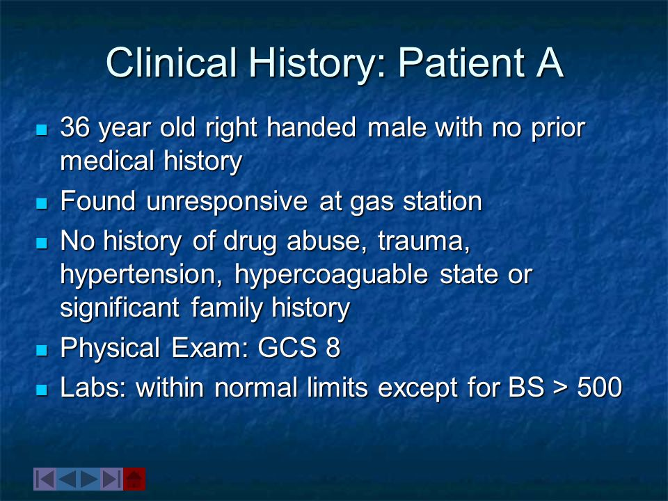 Clinical History: Patient A