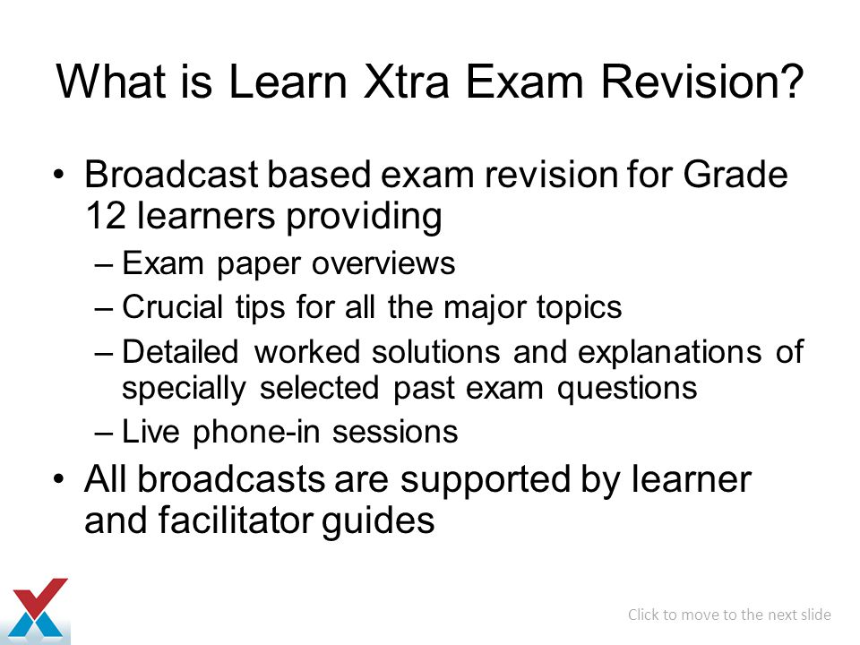 What is Learn Xtra Exam Revision