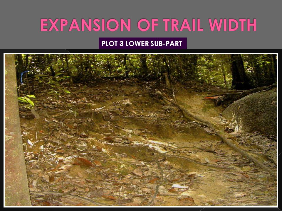 EXPANSION OF TRAIL WIDTH