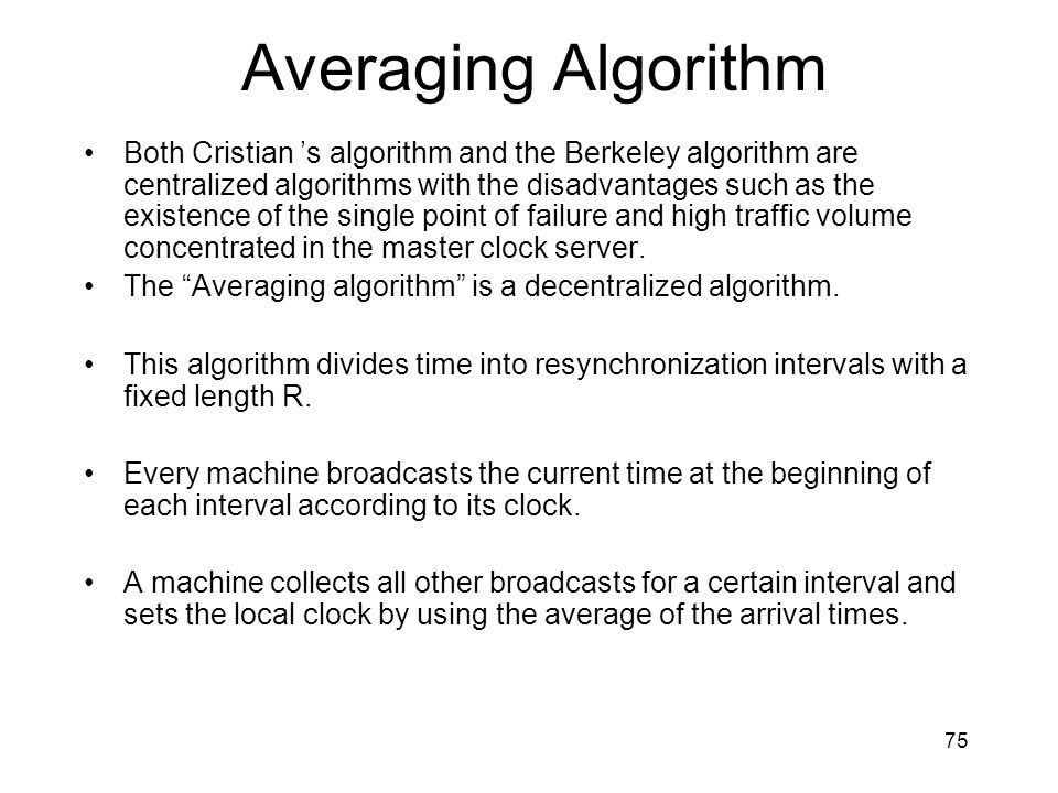 Averaging Algorithm