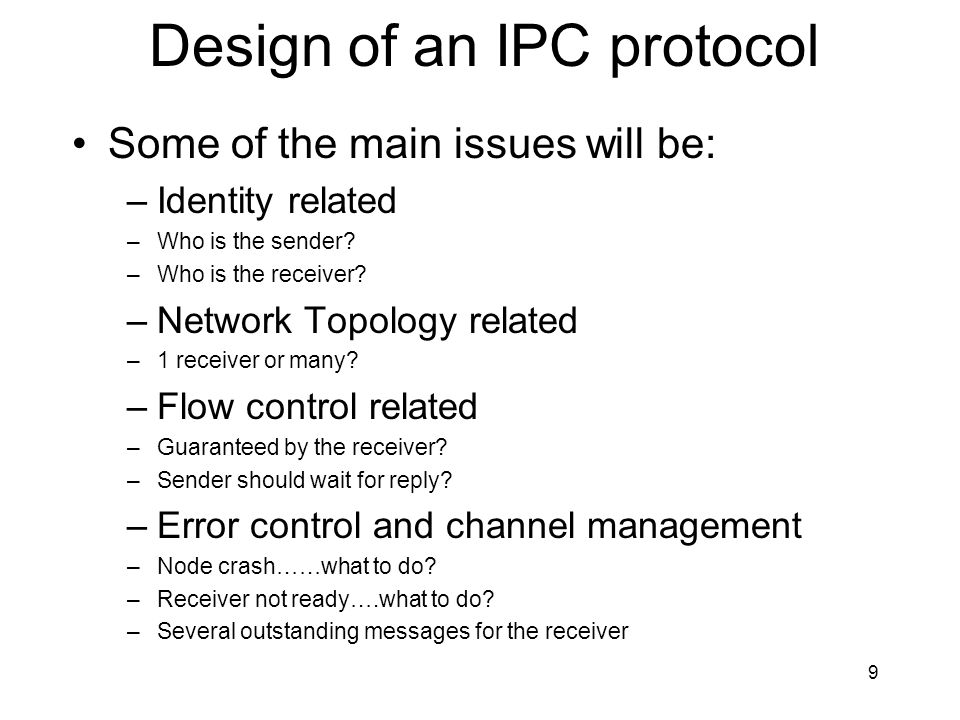Design of an IPC protocol