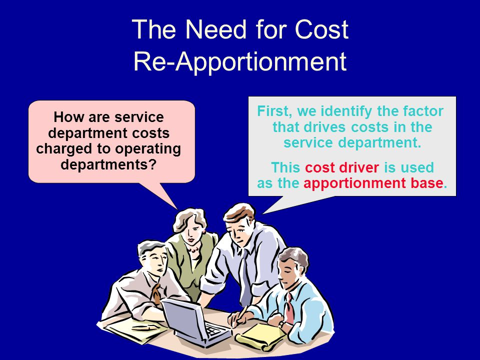 The Need for Cost Re-Apportionment