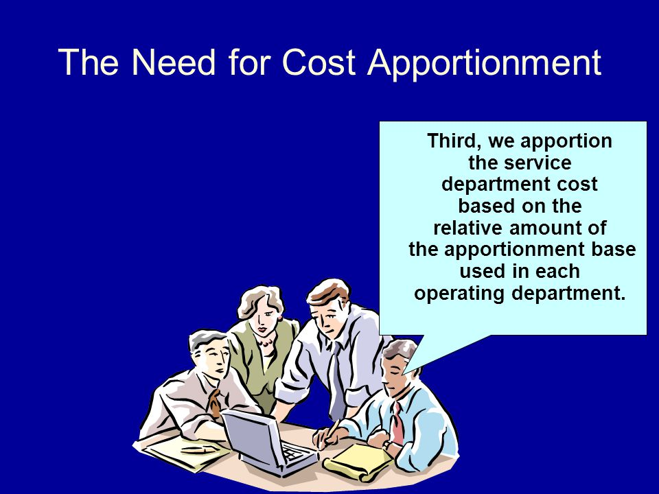 The Need for Cost Apportionment