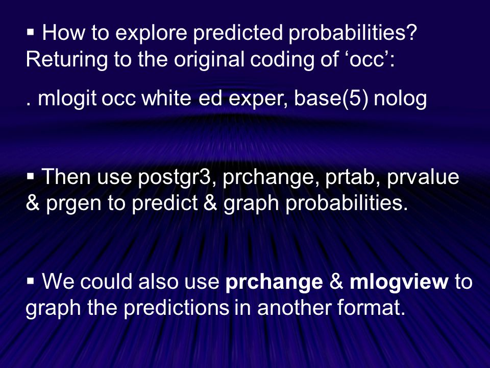 How to explore predicted probabilities