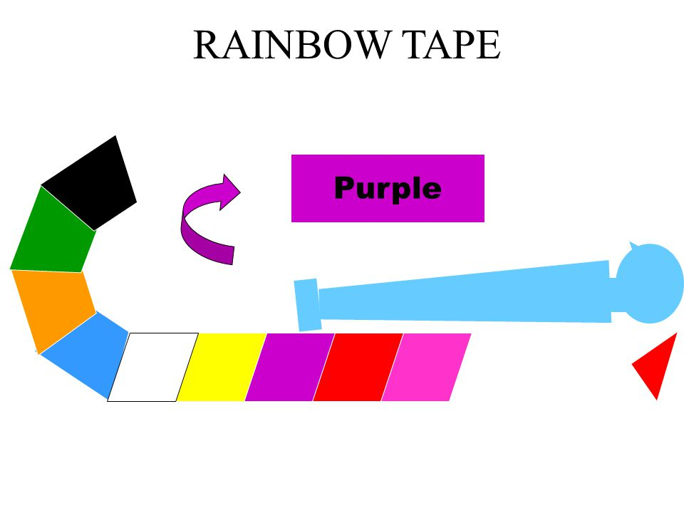 RAINBOW TAPE DRUGS and EQUIPMENT Purple