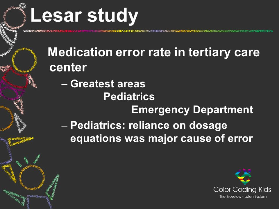 Lesar study Medication error rate in tertiary care center