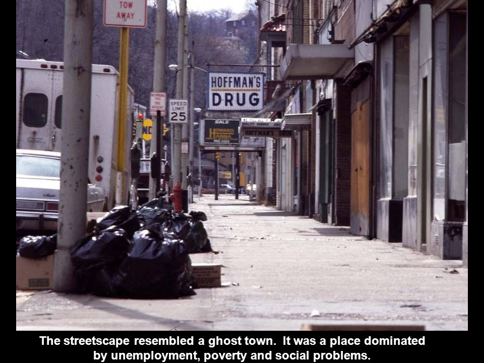 The streetscape resembled a ghost town